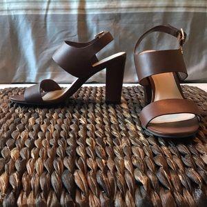 Cole Haan Brown block heel sandal size 5.5
